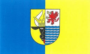 Flagge des Landkreises Mecklenburgische Seenplatte